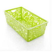 Plastic flower hollow desktop bathroom thicken hollow storage basket