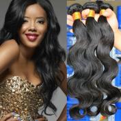Etino Hot Sell Human Hair Direct 100% Brazilian Remy Human Hair Extensions Body Wave 3-Pack Bundles, 300g Total (100g each), Grade AAAAA
