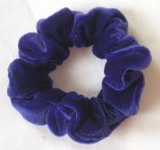 Purple Velvet Hair Scrunchy-Twiggy