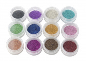 FOONEE Fashion Caviar Nails Art New 12 Colours Plastic Beads Manicures or Pedicures Nail Art