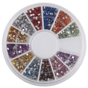 FOONEE Rhinestones Nail Art Gems Mixed Colours Shapes in Case