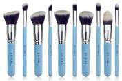 BS-MALL 2015 New Premium Synthetic Kabuki Makeup Brush Set Cosmetics Foundation Blending Blush Eyeliner Face Powder Brush Makeup Brush Kit