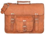 "Gusti Leder nature ""Leon"" Genuine Leather Messenger Shoulder Satchel Cross Body Bag Academic Term Semester College University Office Laptop 40cm Bag Unisex Brown U18"