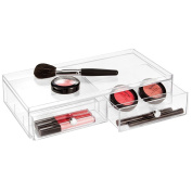 mDesign Cosmetic Organiser with 2 Drawers Wide