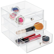 mDesign Cosmetic Organiser with 3 Drawers