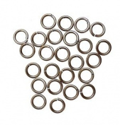 "SNAPEEZ® ""The Snapping Jump Ring"" - SNAPEEZ® II ULTRAPLATE® Grey Velvet Matte Ring Hard Open Jump 14mm Heavy Gauge"