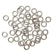 "SNAPEEZ® ""The Snapping Jump Ring"" - SNAPEEZ® II ULTRAPLATE® Grey Velvet Matte Ring Hard Open Jump 8mm Heavy Gauge"