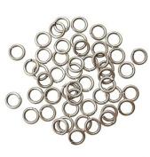 "SNAPEEZ® ""The Snapping Jump Ring"" - SNAPEEZ® II ULTRAPLATE® Grey Velvet Matte Ring Hard Open Jump 8mm Heavy Gauge"