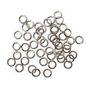 "SNAPEEZ® ""The Snapping Jump Ring"" - SNAPEEZ® II ULTRAPLATE® Grey Velvet Matte Ring Hard Open Jump 6mm Heavy Gauge"