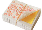 Gold Leaf Sheets 100% 24k Edible Pure 35 X 35 Mm.
