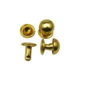 Amanteao Golden Double Cap Rivets Mushroom Cap 8mm and Post 8mm Pack of 200 Sets
