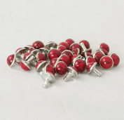 100-PACK 8.5MM RED DIY Leather Craft Decorative Turquoise Rivets Rapid Rivets Studs for Bag Shoes Bracelet Tandy Leather