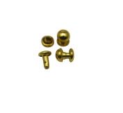 Amanteao Golden Double Cap Rivets Mushroom Cap 5mm and Post 5mm Pack of 300 Sets