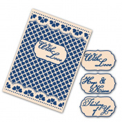 Tattered Lace Interchangeable Embossing Folder -- Lacy Grid EF013