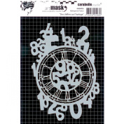 Carabelle Studio Art Mask 11x15cm Clock with Numbers
