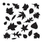 Fall Leaves Mini Pattern Stencil - 10cm x 10cm
