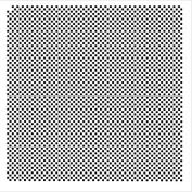 Pattern Stencil - 0.3cm Cheques - 30cm x 30cm