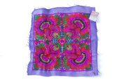 Purple Flower Textiles Hmong Fasionable Style Embroidered From Thailand
