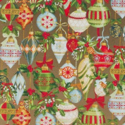 Ornamental Beauty Gold Wrapping Paper Roll 60cm X 4.6m