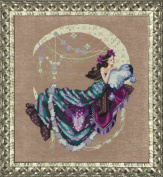 Moon Flowers AIDA Kit Beaded Counted Cross Stitch by Nora Corbett Mirabilia Designs MD137 (Bundle