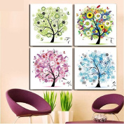 Berry President® Counted Cross Stitch Cotton Thread Kits Beautiful Rich Colour Flowers Happy Tree -- Four Seasons