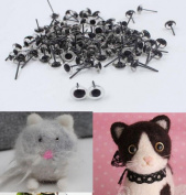CHENGYIDA 400pcs(200pairs) 5mm Mini Clear Glass Eyes on Wire Amber Toy Teddy Eyes Puppets Dolls Needle Felting Crafts