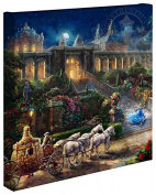 Cinderella Clock Strikes Midnight - Thomas Kinkade Studios Disney Gallery Wrapped Canvas