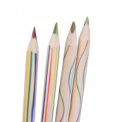 Sunward 10pcs Rainbow Colour Pencil 4 in 1 Coloured Pencils
