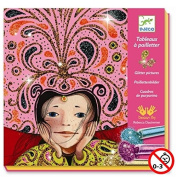 Djeco / Coloured Glitter Art By Numbers, Gold & Silken
