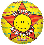 Birthday Smiley Face 46cm Mylar Balloon Bulk