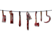 Forum Novelties Bloody Weapon Garland, 1.8m, Red