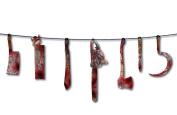Forum Novelties Bloody Weapon Garland, 1.8m, Red