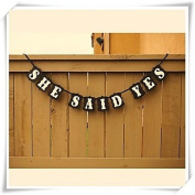 BST Wedding Reception SHE SAID YES Wedding Banner Engagement Decoration Party Signs