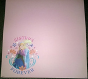 Frozen Sisters Forever - 12x12 Scrapbook Paper - 3 Sheets