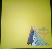 Celebrate Summer - Frozen 12x12 Scrapbook Paper - 3 Sheets