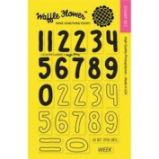 Waffle Flower Crafts Clear Stamps 10cm x 15cm -Calendar Numbers