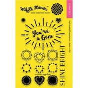 Waffle Flower Crafts Clear Stamps 10cm x 15cm -Gemstone