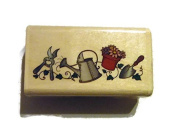 Stamp City Garden Watering Can Rubber Stamp