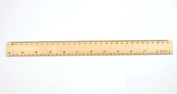 StarMall 30cm Wood Ruler Bevelled Edge