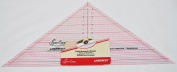 Sew Easy 19cm x 38cm 90 Degree Triangle Quilt Ruler NL4172