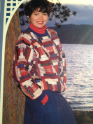 Quilt Log Cabin Pullover Sizes 6-22 Ladies