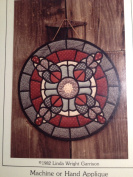 Round Quilted Stain Glass - Machine or Hand Applique 48cm