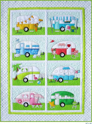 Campers Quilt Patterns; Full Size Patterns, Full Size Placement Sheets & Instructions, for a 100cm By 140cm Camper Trailer Quilt, Plus More