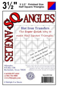 SQAngles Hot Iron Transfers Half Square Triangles 8.9cm