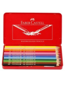 FABER CASTELL 12 water colour pencil tin case