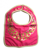 Modern Baby Accessories Bib with hook and loop Closure, Gold Chain