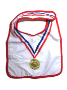 Modern Baby Bib with hook and loop Closure, Gold Medal