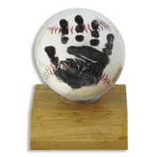 Little MVPs Handprint Baseball Kit - Light Wood Base