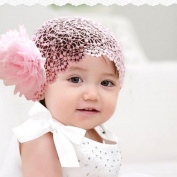 FEITONG(TM) Flower Toddlers Infant Baby Girl Princess Headband Hair Band Headwear accessories Crochet Pink