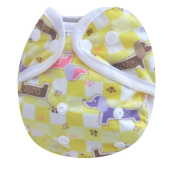 Kawaii Baby One Size Snap Minky Cloth Nappy Cover for Prefolds Cutie
